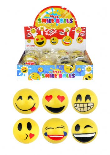 Smiley Face Splat Balls (6cm)  (Individual price) 6 Assorted Designs
